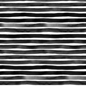 Black Watercolor Stripes by Friztin
