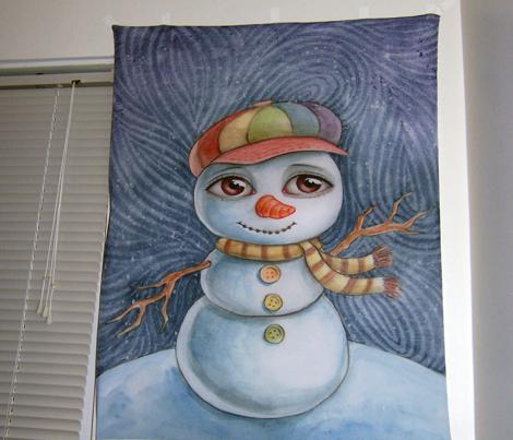Snowman and anti-vivisection rat