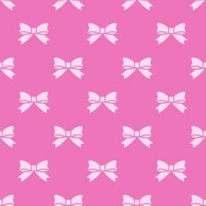 Light Pink Bows on Dark Pink