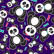 Panda Freefall in Purple