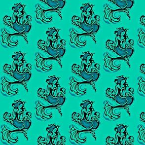 Sitting Pretty Mermaid6-teals/black-Orton-ed