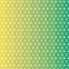 Asanoha shaded-green