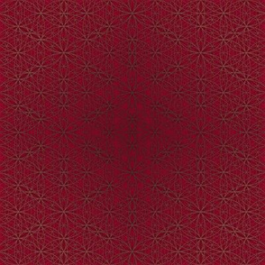 Flower of Life Pattern Red