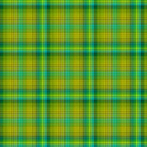 GREEN SPRING GRASS PLAID TARTAN