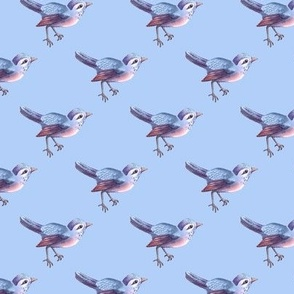 Bird Soft Blue Lavender Periwinkle