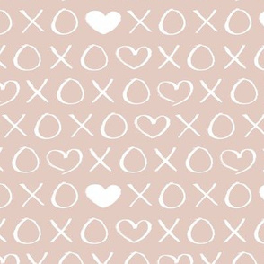 xoxo love sweet hearts and kisses print for lovers wedding and valentine in gender neutral pastel beige