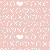 xoxo love sweet hearts and kisses print for lovers wedding and valentine in soft baby girls pink