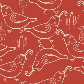 Gambel's quail red