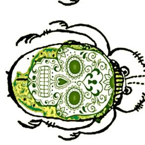 GREEN SKULL BUG