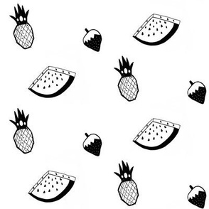 Monochrome fruit salad