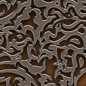 014 embossed metal - brass