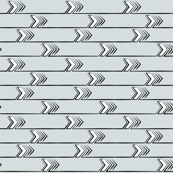 Horizonal Chevron Arrows Grey