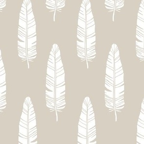 tribal_baby_feathers_white_on_taupe