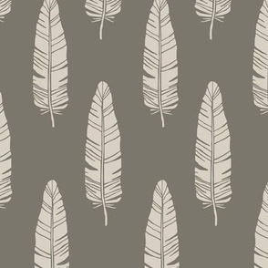 tribal_baby_feathers_taupe_on_brown