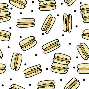 macaron // sweet french bakery kids lemon yellow macarons pastel cute girly design