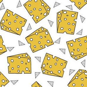 cheese // food novelty funny swiss cheese food print