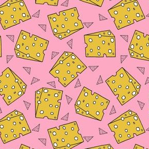 cheese // swiss cheese pink funny novelty food kids