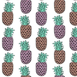 pineapple // pink coral white tropical bright pastel cute girly summer exotic fruit trend