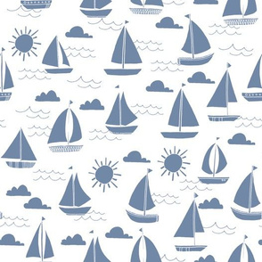 sailboat // summer ocean water nautical sailing boats