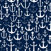 anchors // anchor fabric andrea lauren fabric navy sailing sailboat summer ocean
