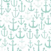 anchor // mint nautical summer ocean mint kids sun preppy