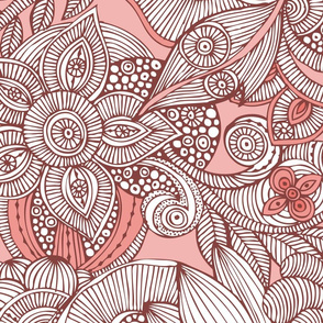 Doodles pink