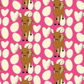 Little Hart Deer Offset Hot Pink
