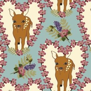 Little Hart Deer floral & teal