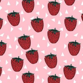 strawberry // strawberries sweet summer fruits pink sweet