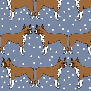 boxer // dog illustration dog breed pet dog boxer dog pattern blue pattern dog