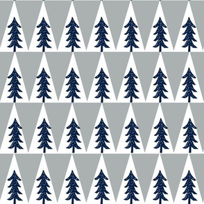 trees // navy grey kids boys nursery kids collection