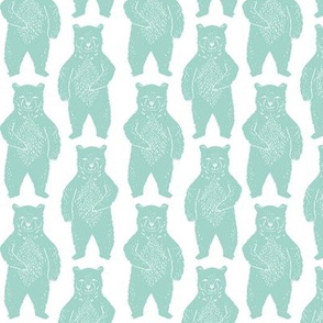 forest bear // mint kids cute forest bear boys nursery baby
