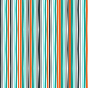 Autumn Citrus Stripes