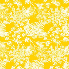 Botanical Silhouette - Golden Yellow