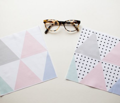 Pastel and Polka dot triangle
