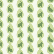 Easter Egg Pattern in Pastel Green with Bunnies