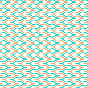 Tan and Turquoise Chevron Style Stripes