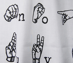 Sign Language Alphabet - Black on White