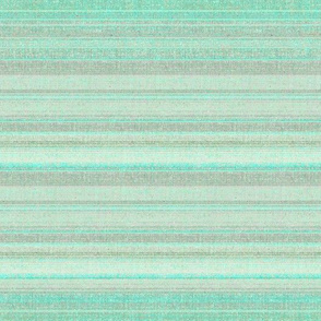 Aqua faux linen stripe