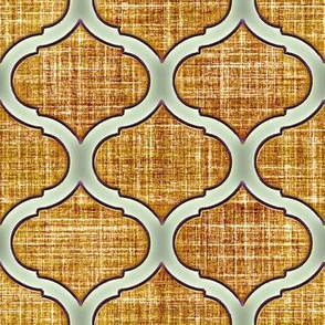 Morrocan faux linen ogee in tobacco