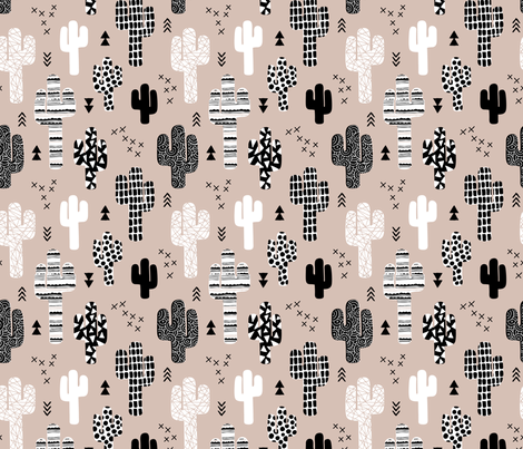 Cool western geometric cactus garden with triangles and