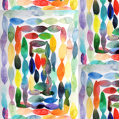 Watercolor ovals