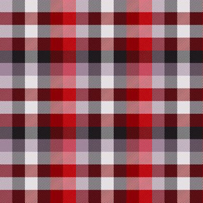 Madras plaid - red, grey and mauve