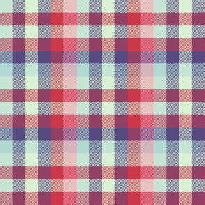 Madras plaid - spring quilt