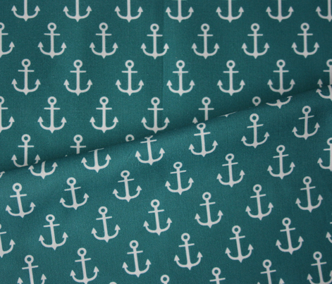 Anchors on blue