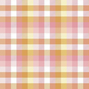 Madras plaid - hyacinth and daffodil