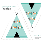 Teepee cut and sew in teal