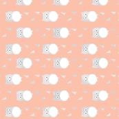 Owl Babies - Peach - Rotated 90 degrees