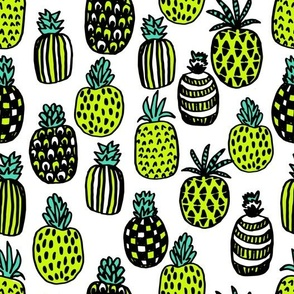 pineapples // cute trendy tropical girls pineapple summer print