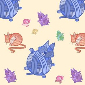 Cat Yarn Balls